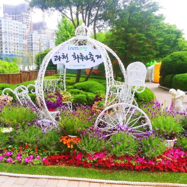 플라워 웨이브 꽃길마차
